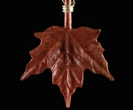 Maple Leaf in Pink Ivory Wood