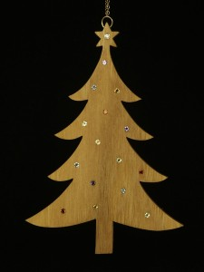 Wooden Christmas Tree Sculpted